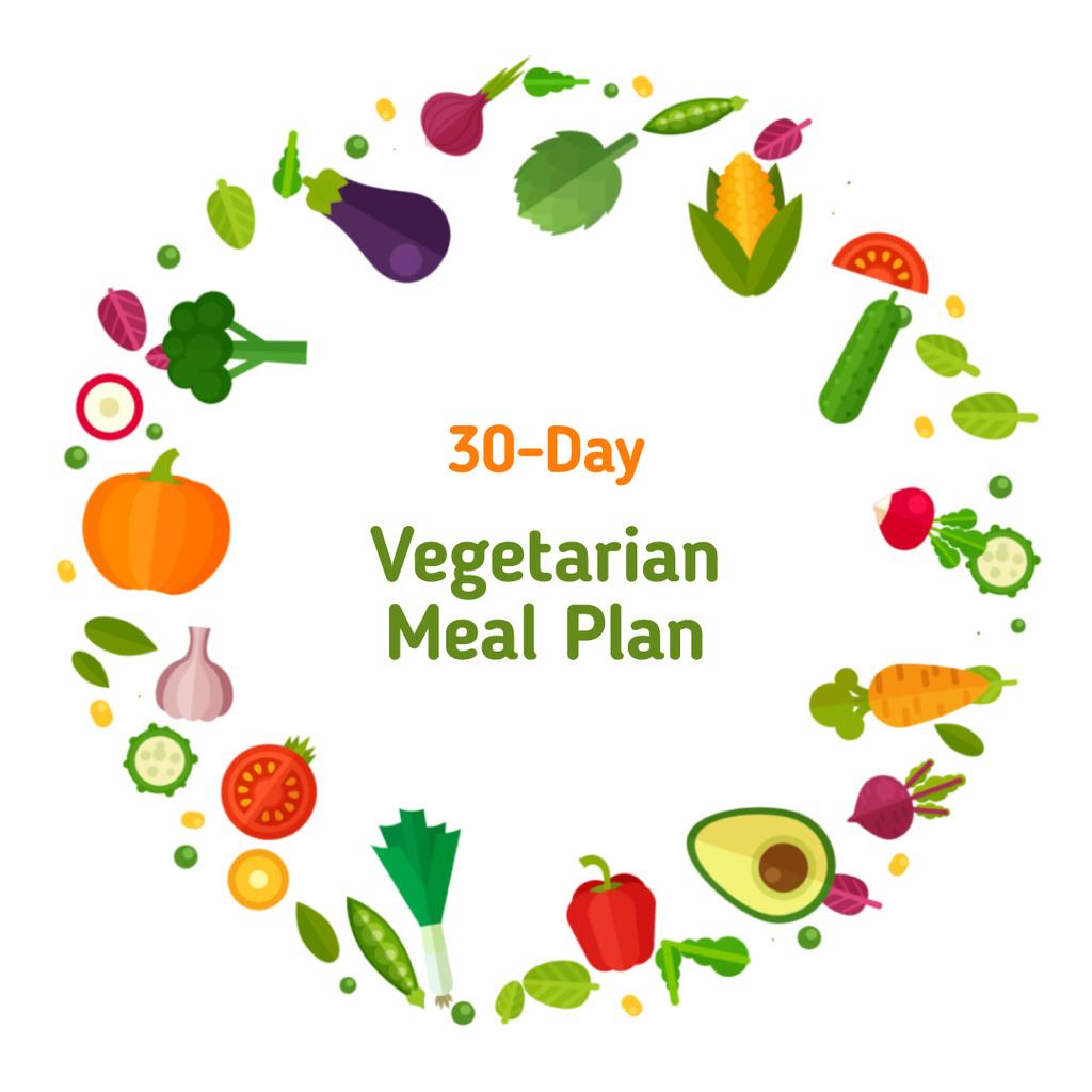 Rotating circle of vegetables  — Создать дизайн