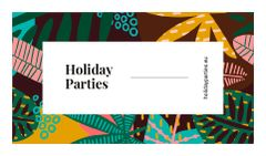 Parties Organization with Leaves in Tropical Forest