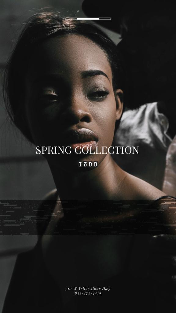 Beauty Ad Attractive African American Woman | Vertical Video Template — Maak een ontwerp