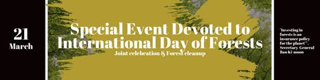 Special Event devoted to International Day of Forests Twitterデザインテンプレート