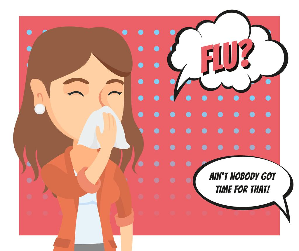Woman suffering from flu — Create a Design