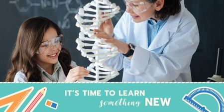 Modèle de visuel time to learn something new poster - Image