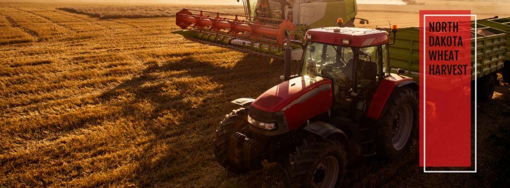 Farm wheat harvest poster — Создать дизайн