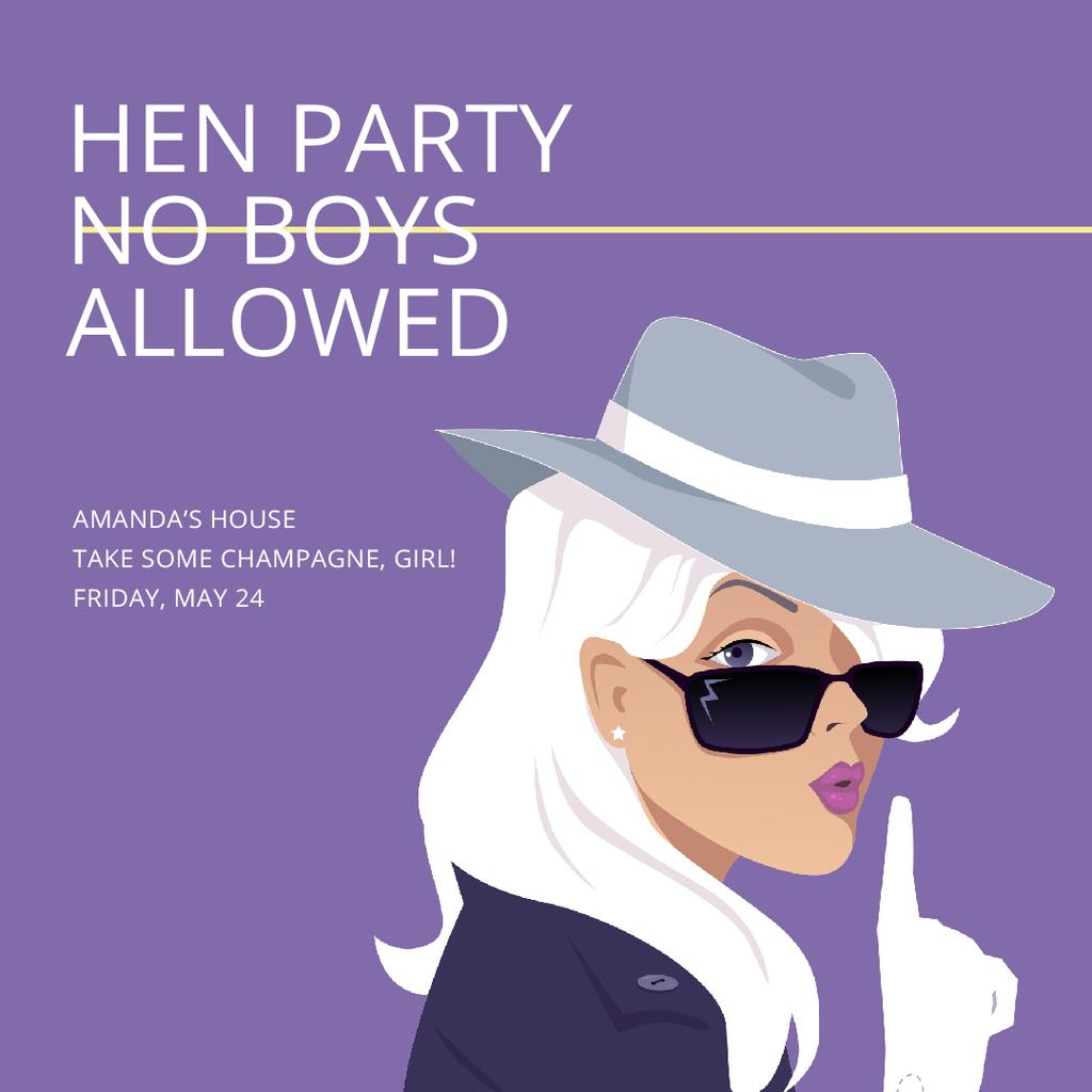 Hen party for girls with Attractive Blonde — Modelo de projeto
