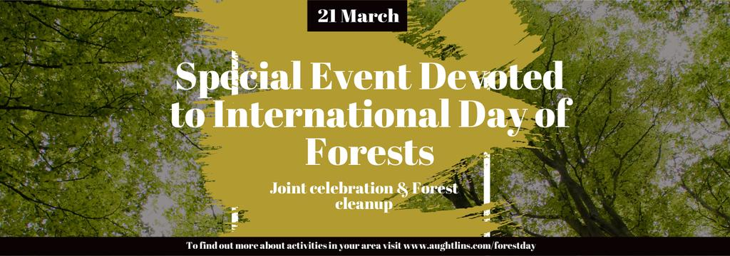 International Day of Forests Event Tall Trees | Tumblr Banner Template — Create a Design