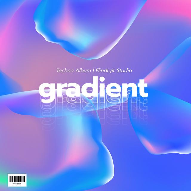Abstract Holographic smudges pattern Album Cover Modelo de Design