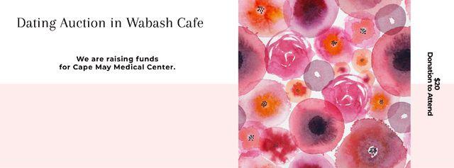 Ontwerpsjabloon van Facebook cover van Dating Auction in Wabash Cafe