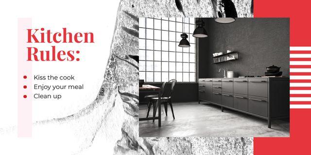 Stylish kitchen interior Image Modelo de Design