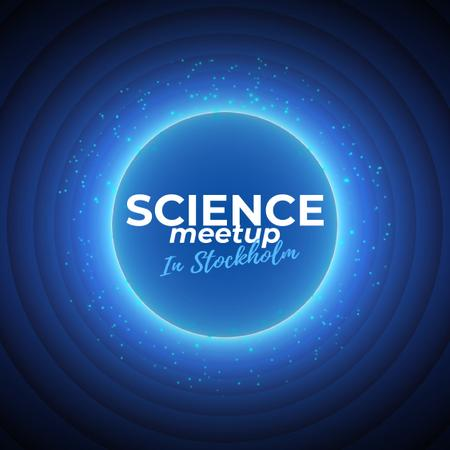 Science Meetup Announcement with Starry Sky Animated Post Tasarım Şablonu
