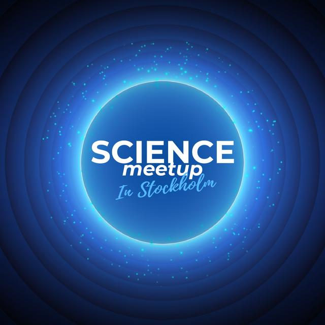 Plantilla de diseño de Science Meetup Announcement with Starry Sky Animated Post