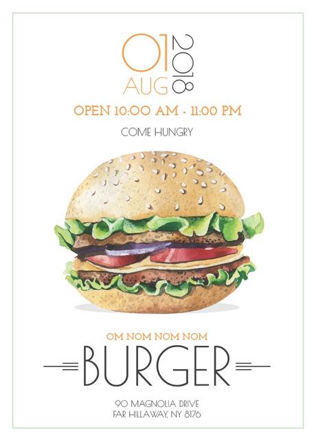 Fast Food Offer with Tasty Burger Flayer Tasarım Şablonu