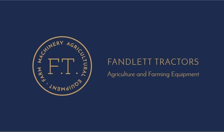 Plantilla de diseño de Tractors Company Services Offer Business card