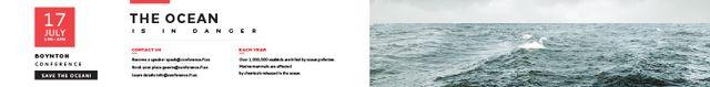 Ontwerpsjabloon van Leaderboard van Boynton conference the ocean is in danger