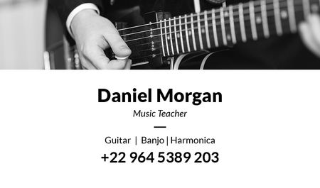 Ontwerpsjabloon van Business card van Music teacher Services Offer
