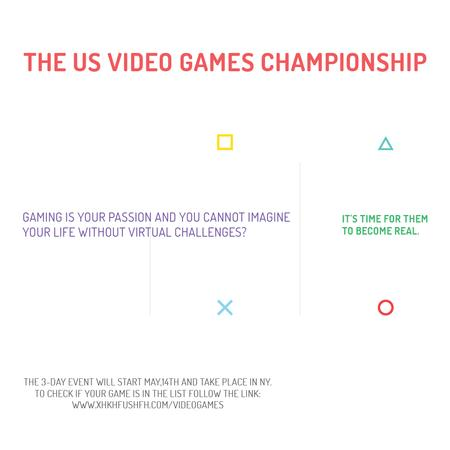 Ontwerpsjabloon van Instagram AD van Video Games Championship announcement