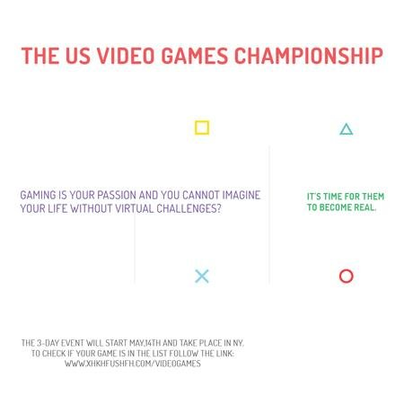 Plantilla de diseño de Video Games Championship announcement Instagram AD