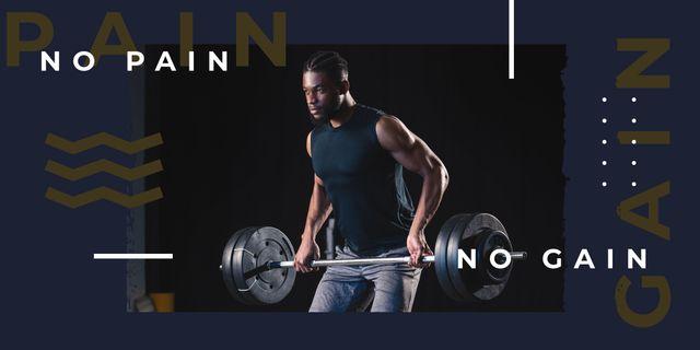 Ontwerpsjabloon van Image van Man lifting barbell