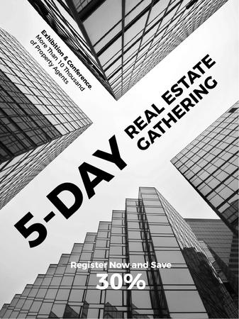 Template di design Real Estate Conference announcement Glass Skyscrapers Poster US