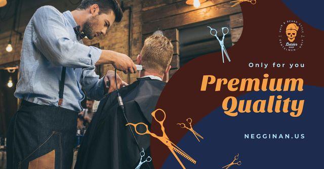 Szablon projektu Client at professional Barbershop Facebook AD