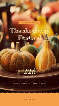 Thanksgiving Festival Small Pumpkins for Decoration | Stories Template