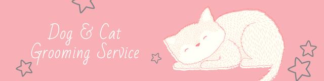Plantilla de diseño de Dog & Cat Grooming Service Twitter