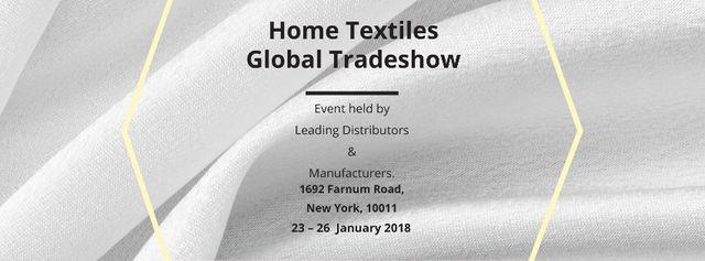 Plantilla de diseño de Home Textiles Events Announcement with White Silk Facebook cover