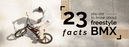 Facts about freestyle bmx Facebook coverデザインテンプレート