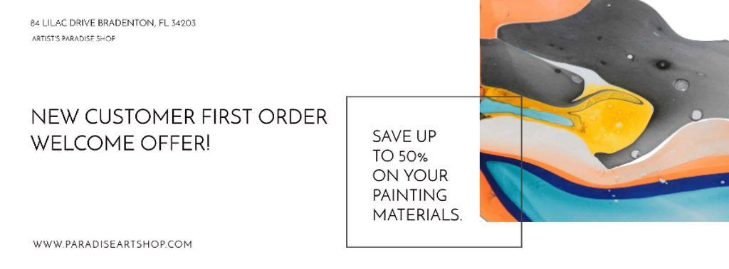 Art Painting with Colorful Paint Blots — Crea un design