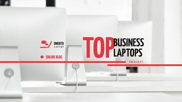 Laptops Guide with Computers on Table in White