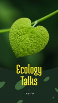 Ecology Event Announcement Green Plant Leaf