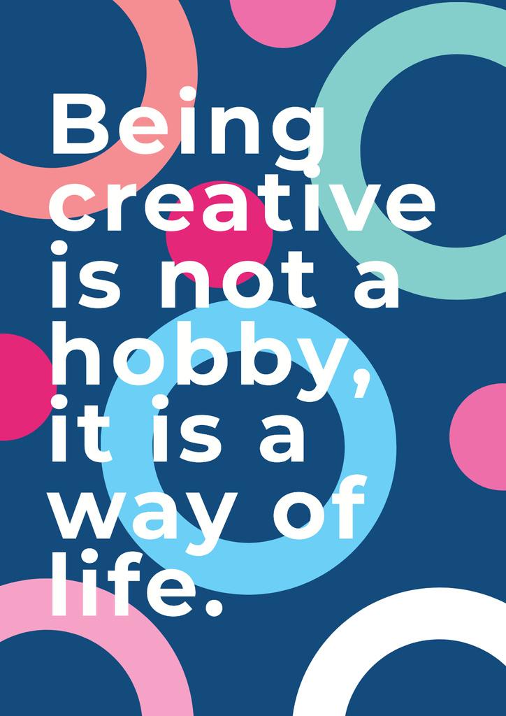 Plantilla de diseño de Citation about how to be creative Poster