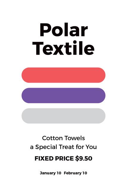 Plantilla de diseño de Polar textile shop Tumblr