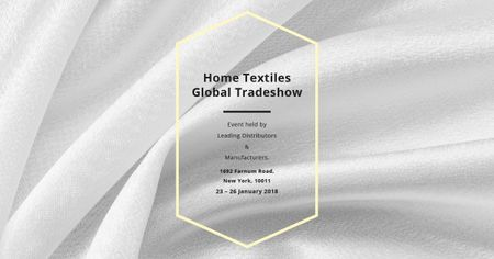 Home textiles global tradeshow Facebook AD Modelo de Design