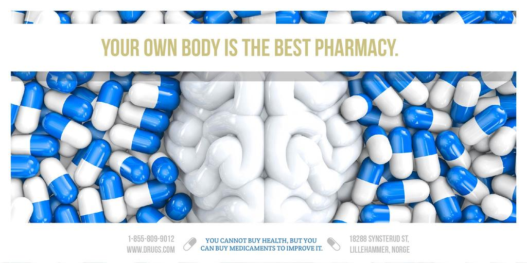 Pharmacy advertisement with quote — ein Design erstellen