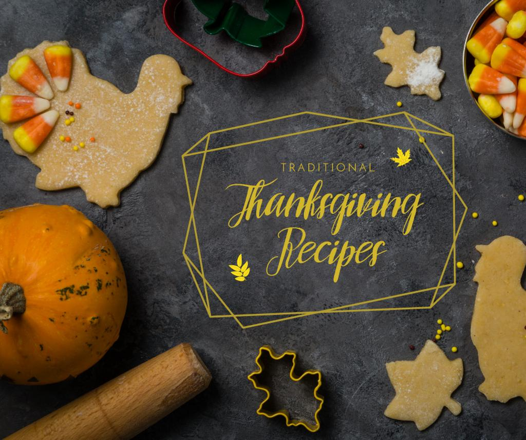 Cooking Thanksgiving cookies and sweets — Crea un design