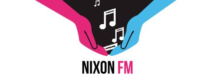 Plantilla de diseño de Nixon FM Facebook Video cover