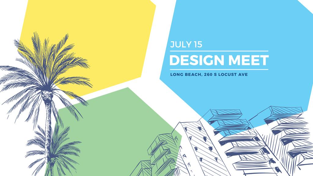 Building by palm trees — Create a Design