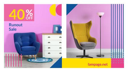 Plantilla de diseño de Furniture Sale Armchair in Colorful Interior Full HD video