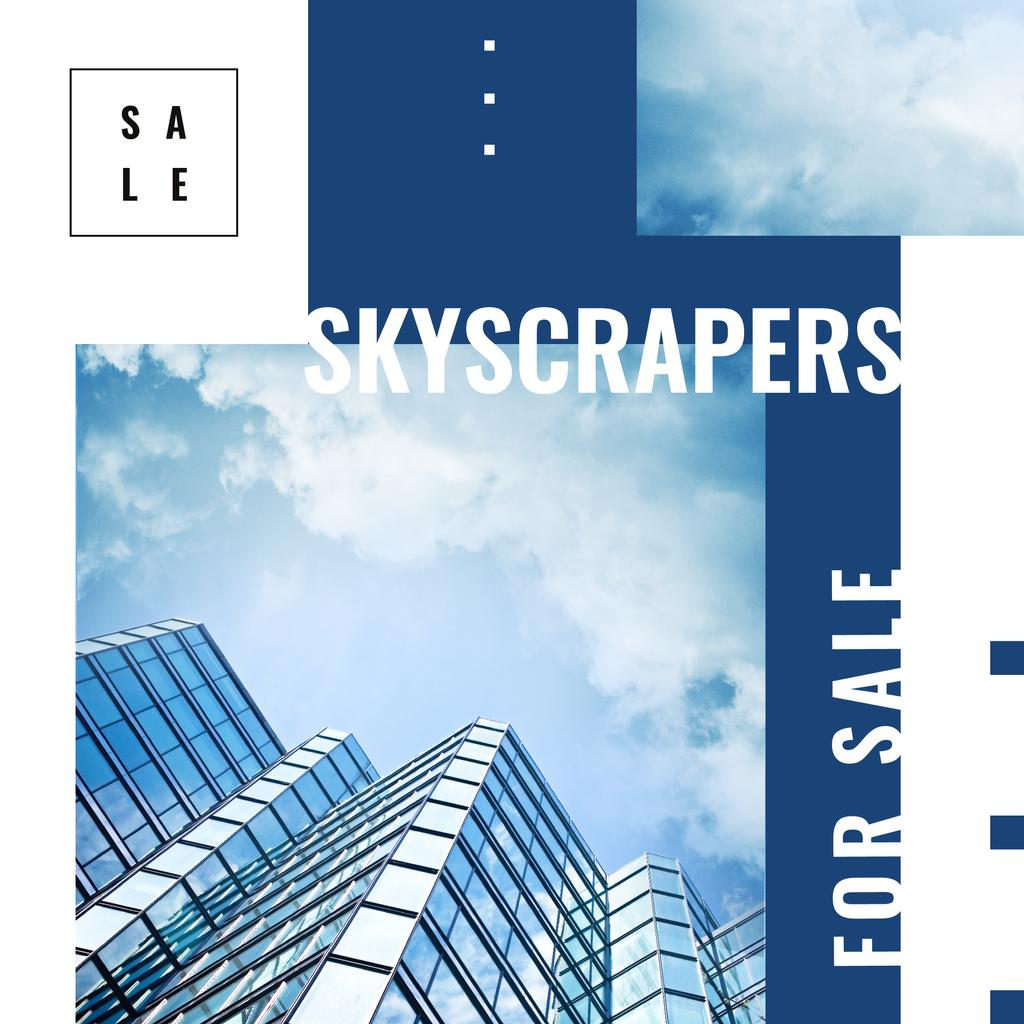 Real Estate Offer Modern Glass Building | Instagram Ad Template — Створити дизайн
