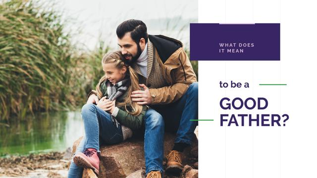Father with his daughter Presentation Wide – шаблон для дизайну