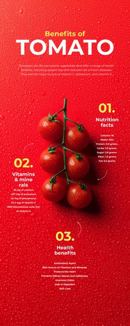 Food infographics about Benefits of Tomato Infographicデザインテンプレート