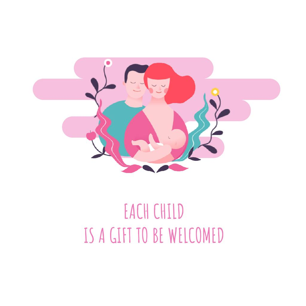 Parents with newborn baby — Créer un visuel