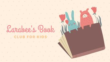 Book Club Ad with Animals Illustration