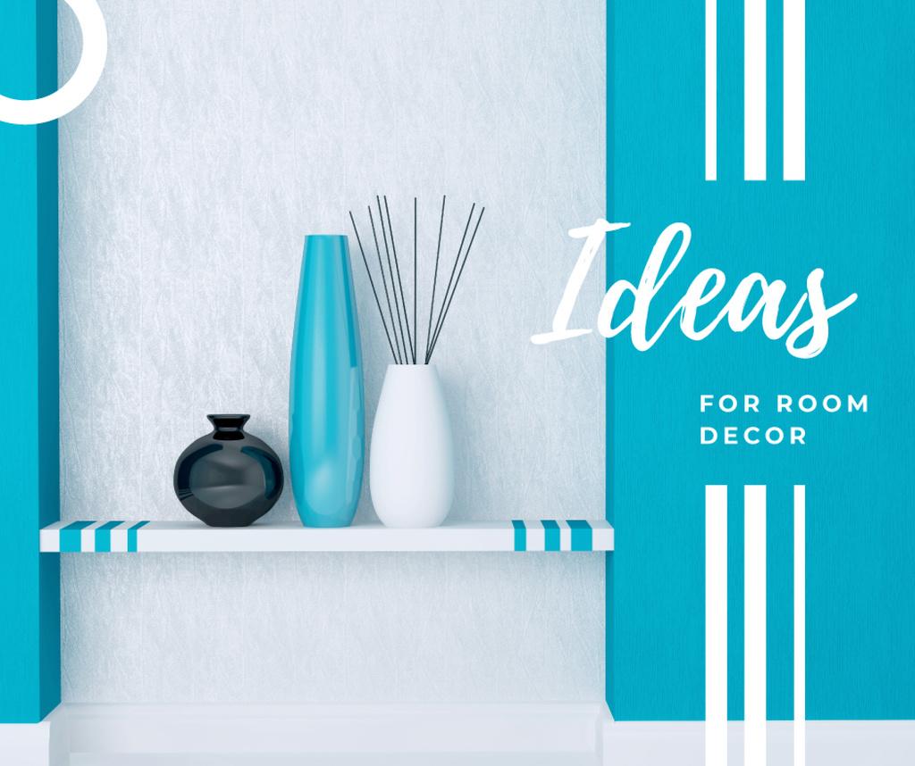 Vases for home decor in blue — Crear un diseño