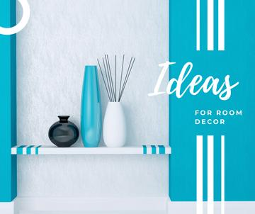 Vases for home decor in blue