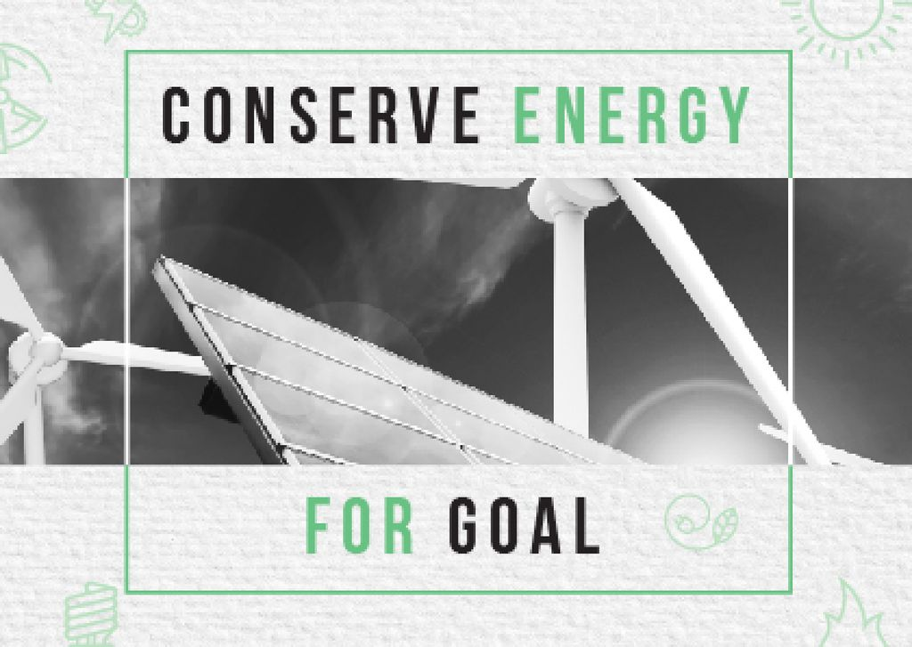 Concept of Conserve energy for goal — Créer un visuel