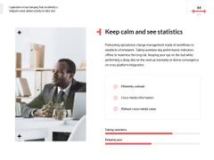 Confident businessman working on laptop