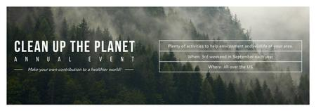 Template di design Ecological Event Announcement Foggy Forest View Tumblr