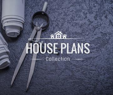 House Plans blueprints on table