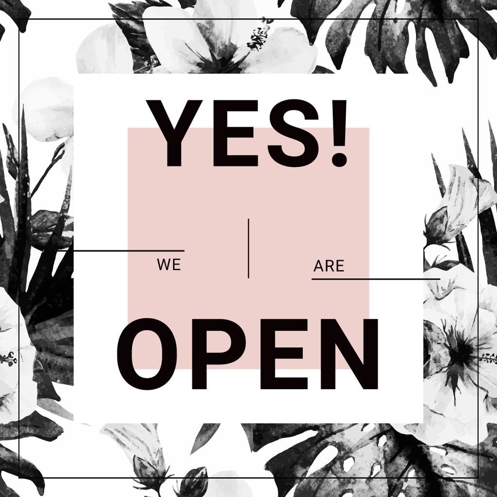 yes we are open poster  — ein Design erstellen